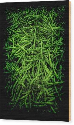Renaissance Green Beans Wood Print