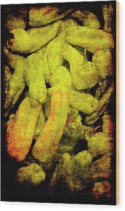 Renaissance Green Peppers Wood Print