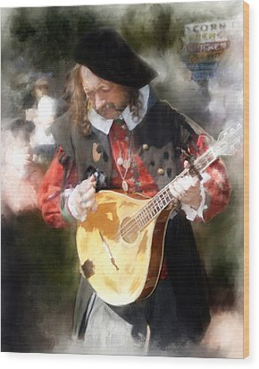 Renaissance Musician Wood Print by Fred Baird