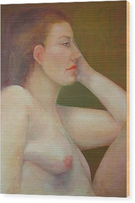 Renaissance Nude  Copyrighted Wood Print by Kathleen Hoekstra