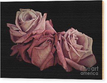 Renaissance Roses Wood Print by Patricia Strand