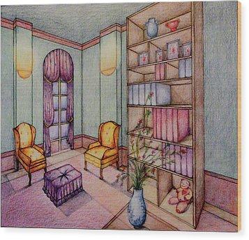 Rendering No.2 Wood Print by Hye Ja Billie