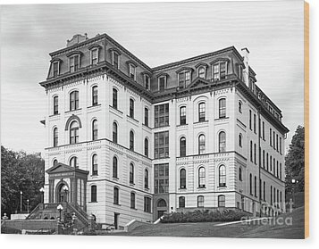 Rensselaer Polytechnic Institute West Hall Wood Print by University Icons