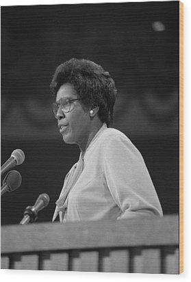 Representative Barbara Jordan Delivers Wood Print by Everett