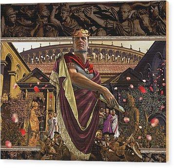 Republic Of Rome Wood Print by Kurt Miller