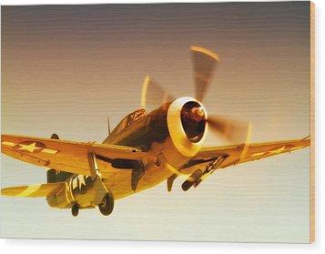 Republic P-47 Thunderbolt 2011 Chino Air Show Wood Print by Gus McCrea