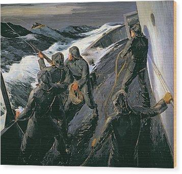 Rescue Wood Print by Thomas Harold Beament