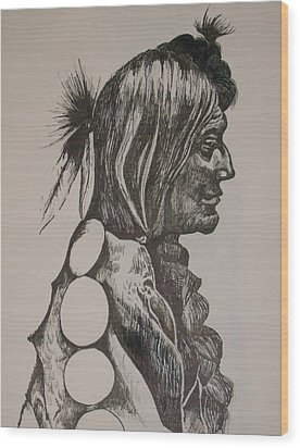 Wood Print featuring the drawing Reservation by Leslie Manley