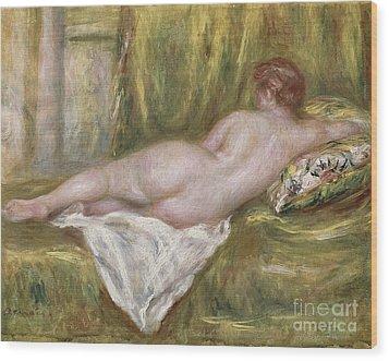 Rest After The Bath Wood Print by Pierre Auguste Renoir