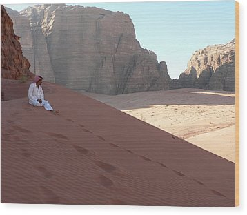 Rest At Wadi Rum Wood Print by James Lukashenko