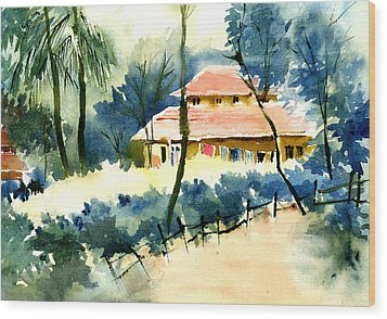 Rest House Wood Print by Anil Nene