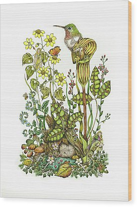 Resting Wood Print by Donna Genovese