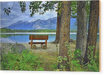 Wood Print featuring the photograph Resting Place At Lake Annette by Tara Turner