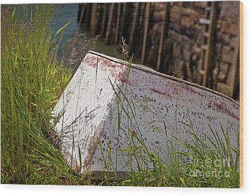 Wood Print featuring the photograph Resting Rowboat by Susan Cole Kelly