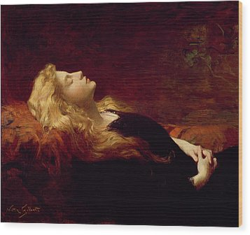 Resting Wood Print by Victor Gabriel Gilbert