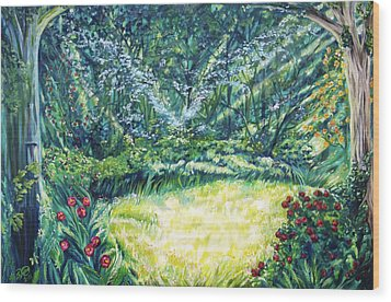 Restoration Wood Print by Suzanne King