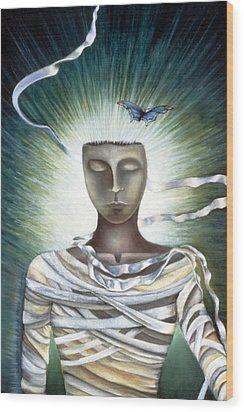 Resurrection Wood Print by Gloria Cigolini-DePietro