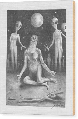 Resurrection Wood Print by Julian  B
