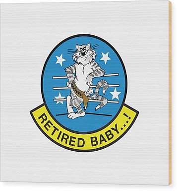 Retired Baby - Tomcat Wood Print