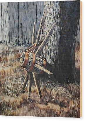 Retired Wood Print by Bob Hallmark