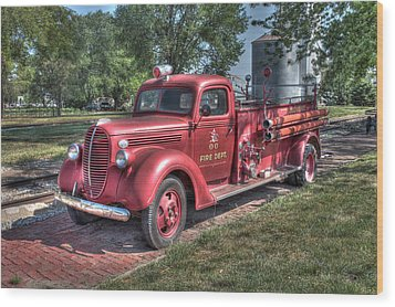 Retired Fire Chaser Wood Print