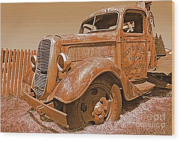 Retired Ford Truck Wood Print by Rich Walter