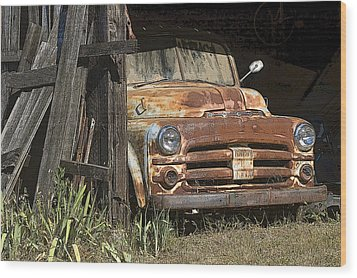 Wood Print featuring the photograph Retired by Sherri Meyer