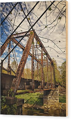 Retired Trestle Wood Print