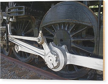 Retired Wheels Wood Print by Todd Kreuter