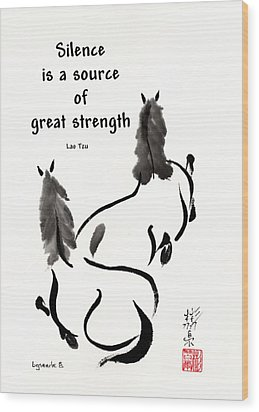 Wood Print featuring the painting Retired With Lao Tzu Quote IIi by Bill Searle