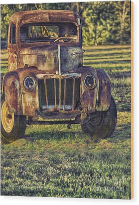 Retired Wrecker Wood Print