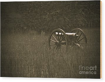 Retreat...never Surrender Wood Print by Charles Dobbs