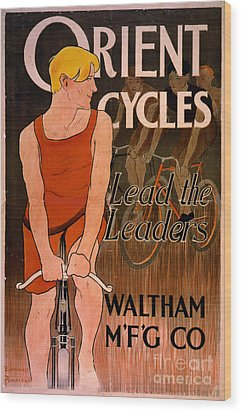 Wood Print featuring the photograph Retro Bicycle Ad 1890 by Padre Art