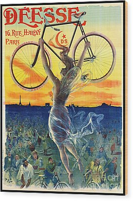 Wood Print featuring the photograph Retro Bicycle Ad 1898 by Padre Art