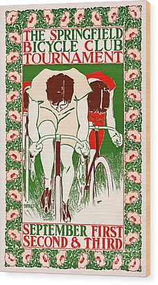 Wood Print featuring the photograph Retro Bicycle Poster 1895 by Padre Art