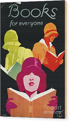 Wood Print featuring the photograph Retro Books Poster 1929 by Padre Art