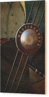 Classic Desk Fan  Wood Print by Michelle Calkins
