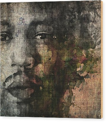 Retro Hendrix @ No6 Wood Print by Paul Lovering