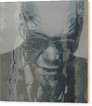 Wood Print featuring the mixed media Retro / Ray Charles  by Paul Lovering