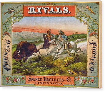 Wood Print featuring the photograph Retro Tobacco Label 1872 D by Padre Art