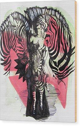 Return Of Zebra Boy Wood Print
