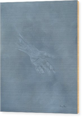 Wood Print featuring the painting Return To Dust by Judith Rhue