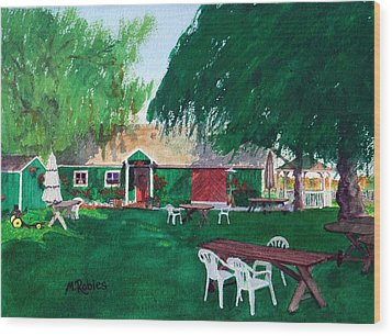Retzlaff Winery Wood Print by Mike Robles