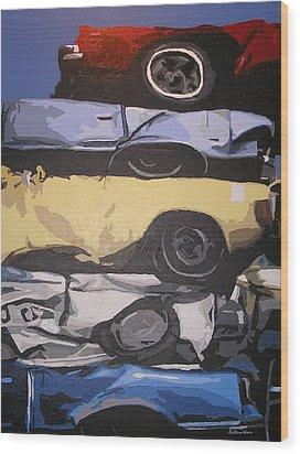 Reunited Wood Print by Ricklene Wren