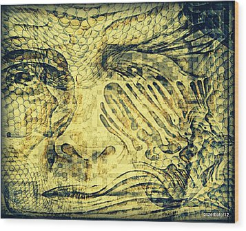 Revealing The Thoughts Wood Print by Paulo Zerbato