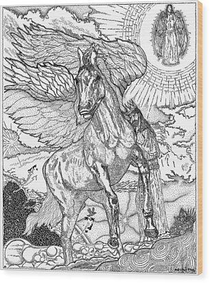 Revelation   Return Of The King Wood Print by Glenn McCarthy Art and Photography