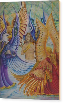 Revelation Five Wood Print by Rick Ahlvers