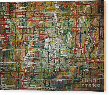 Wood Print featuring the painting Revelation by Jacqueline Athmann