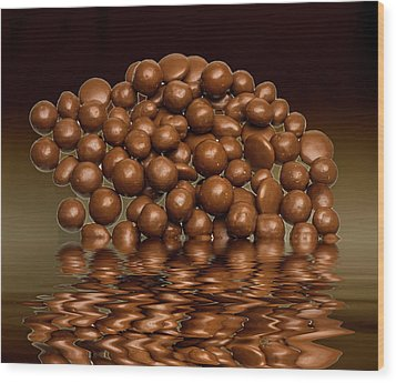 Wood Print featuring the photograph Revels Chocolate Sweets by David French