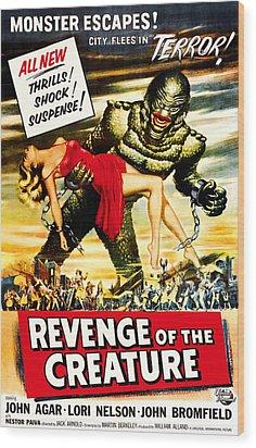 Revenge Of The Creature, 1955 Wood Print by Everett